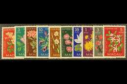 1953 Indigenous Flowers Set Complete, SG 458/67, Very Fine NHM. (10 Stamps) For More Images, Please Visit Http://www.san - Macao