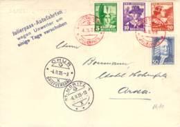 Schöne Mischfrankatur Schweiz Juliérpass-Autofahrten 1935 - Svizzera