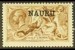 1916-23 2s6d Brown Seahorse, De La Rue Printing, SG 21, Very Fine Mint. For More Images, Please Visit Http://www.sandafa - Nauru