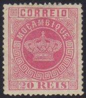 MOZAMBIQUE 1885 20r Rose, Perf 13½,  Afinsa 11, An Unused (regummed) Example Of This Rare Stamp With Good Centering, Wit - Colonies Portugaises Et Dépendances - Non Classés