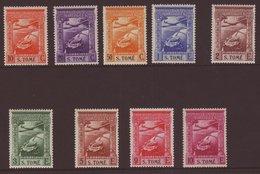 ST THOMAS AND PRINCE ISLAND 1938 AIR Complete Set, Afinsa 1/9, Superb Lightly Hinged Mint, Hardly Detectable. Fresh And  - Colonies Portugaises Et Dépendances - Non Classés