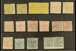 1862-1864 FINE MINT COLLECTION On A Stock Card. Includes 1862-64 3p (x4 Inc A Pair), 6p (x9 Inc Two Handstruck And A Pai - Roumanie