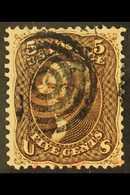 1861-6 5c Brown, Dark Shade, Perf.12, Scott 76, SG 72, Very Fine Used. For More Images, Please Visit Http://www.sandafay - Etats-Unis