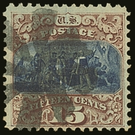 1869 15c Blue & Brown, Type I, Scott 118, SG 120, Good Colour & Centering, Fine To Very Fine Used For More Images, Pleas - Etats-Unis