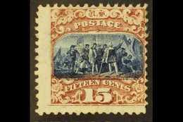1869 15c Brown & Blue, Type II, Scott 119, SG 121, Unused, No Gum. Fresh Colours And Full Perfs. For More Images, Please - Etats-Unis