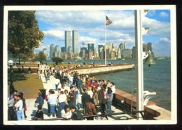 CPM Etats Unis Ellis Island With NEW YORK Skyline In The Background - Ellis Island