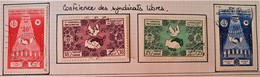 CONFEDERATION DES SYNDICATS LIBRES 1957 - OBLITERES- YT 440/43 - MI 485/88 - Tunisie (1956-...)