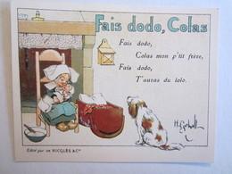 Chromo Chromos Alcool Ricqles Saint Ouen Illustrateur Gerbault Fais Dodo Colas Chien Bébé - Chromos