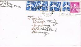 30853. Carta Aerea COLLEGE STATION (Texas) 1959. Pray For Peace - Etats-Unis