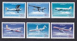 ROUMANIE AERIENS N°  239 à 244 ** MNH Neufs Sans Charnière, TB (D7864) Avions De Ligne - 1976 - Nuevos