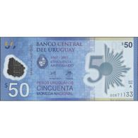 TWN - URUGUAY NEW - 50 Pesos Uruguayos 2017 (2018) Polymer - 50th Ann. Of Banco Central Del Uruguay - Serie A UNC - Uruguay