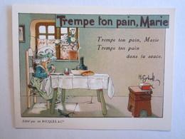 Chromo Chromos Alcool Ricqles Saint Ouen Illustrateur Gerbault Trempe Ton Pain Marie - Chromos