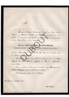 Doodsbrief  Jean-Frédéric-Auguste Müller °1784 †1866 Brussel / Capitaine Pensionné (H13) - Décès