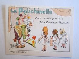 Chromo Chromos Alcool Ricqles Saint Ouen Illustrateur Gerbault La Polichinelle - Chromos