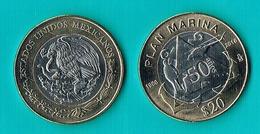 "Mexico  20 Pesos "" PLAN MARINA "" - 2018 - Bimetal - Mexique"