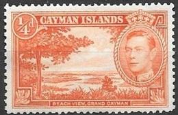 1938 King George VI, 1/4 Penny, Mint Hinged - Cayman Islands