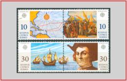 Cipro Cyprus 1992 - Cat. 792/95 (MNH **) Europa CEPT - Europe (002554) - Chypre (République)