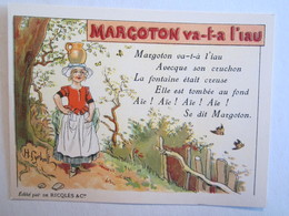 Chromo Chromos Alcool Ricqles Saint Ouen Illustrateur Gerbault Margoton Va T A L'eau - Chromos