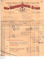 FATTURA DITTA GIUSEPPE ZANINI ARONA PENNE STILOGRAFICHE 1950 - Italia