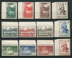 10300  GUYANE  N°201/12**  Aspects De La Guyane   1947 Bord De Feuille TTB - Guyane Française (1886-1949)