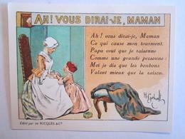 Chromo Chromos Alcool Ricqles Saint Ouen Illustrateur Gerbault Ah Vous Dirai Je Maman - Chromos