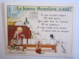 Chromo Chromos Alcool Ricqles Saint Ouen Illustrateur Gerbault La Bonne Aventure O Gué  Chat Chien - Chromos