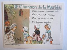 Chromo Chromos Alcool Ricqles Saint Ouen Illustrateur Gerbault La Chanson De La Mariée - Chromos