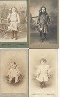 44  PORNIC       4  CDV  ANCIENS   PHOTOS  D ENFANTS   PHOTOGRAPHE  E  PIGEARD  PORNIC - Anciennes (Av. 1900)