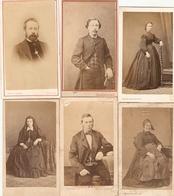 Lot De 9 Photographies Anciennes, Familles Martin Et St-André, Cdv De Bénazech, Bretagne, Decap, Trantoul à Toulouse - Anciennes (Av. 1900)