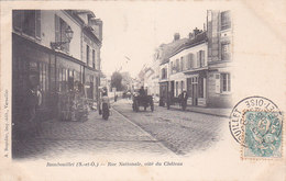 Rambouillet Rue Nationale Coté Du Chateau éditeur A Bourdier - Rambouillet