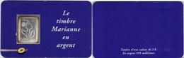 FRANCE Autoadhésif  85 ** MNH Marianne De Lamouche En Argent 999/1000ème Sous Blister Et Support Format CB - France