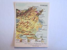 Chromo Chromos Lion Noir Tunisie Carte - Chromos