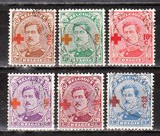 151/56  Croix-Rouge - Les 6 Premières Valeurs - Oblit. - LOOK!!!! - 1918 Croix-Rouge