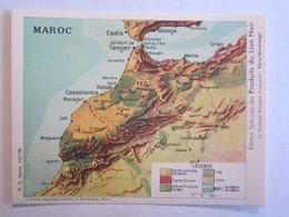 Chromo Chromos Lion Noir Maroc Carte - Chromos