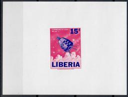 LIBERIA 1964 - ASTRONAUTICA - SERIE DI 3 FGL NON DENTELLATI - MNH** - Liberia