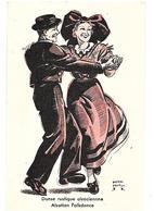 ALSACE DANSEURS ALSACIENS DESSIN DE PIERRE PROBST 1940 CPA 2 SCANS - Illustrateurs & Photographes