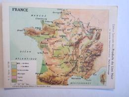 Chromo Chromos Lion Noir France Carte - Chromos