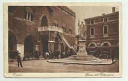 TREVISO  - PIAZZA DELL'INDIPENDENZA 1928  VIAGGIATA FP - Treviso