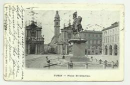 TURIN - PLACE ST. CHARLES 1918   VIAGGIATA FP - Italy