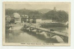 TORINO - PONTE VITT. EMANU. E GRAN MADRE DI DIO  1916   VIAGGIATA FP - Italy