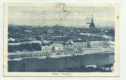 TORINO - PANORAMA 1928  - VIAGGIATA FP - Italy