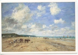 Eugnene Boudin (1824-1898) Plage De Deauville (musée Caen) Vierge - Deauville