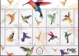 CARIBISCH NEDERLAND,  SINT EUSTATIUS,  2018, MNH, BIRDS, HUMMING BIRDS, SHEETLET - Hummingbirds