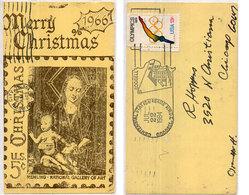 U.S.A.  - Repro Timbre - Merry  Christmas - 1966 - Cachet Centennial Station  (110653) - Timbres (représentations)