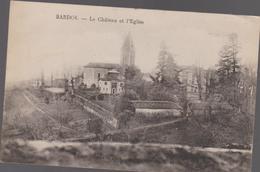 CPA B41   BARDOS Le Château Et L'église-champs - France