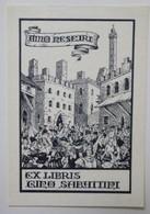 Ex-libris Illustré Italie XXème - Gino SABATTINI - Ex-libris