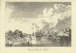 Valletta (Malta) Grand Harbour And Valletta By Berthault, Paris, Late 18th Century - Malta