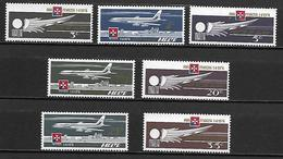 MALTE    -   Poste Aérienne.   1974.   Y&T N° 2 à 8 **.  Avions.  Série Complète.. - Malta