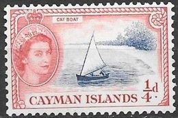 1955 Queen Elizabeth, 1/4 Penny, Mint Never Hinged - Cayman Islands