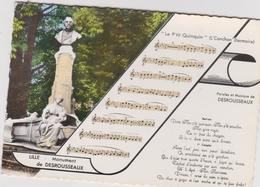 """Nord : LILLE  : Monument  De  Desrousseaux  , Note De  Musique  """" Le P' Tit  Quinquin """" - Lille"""